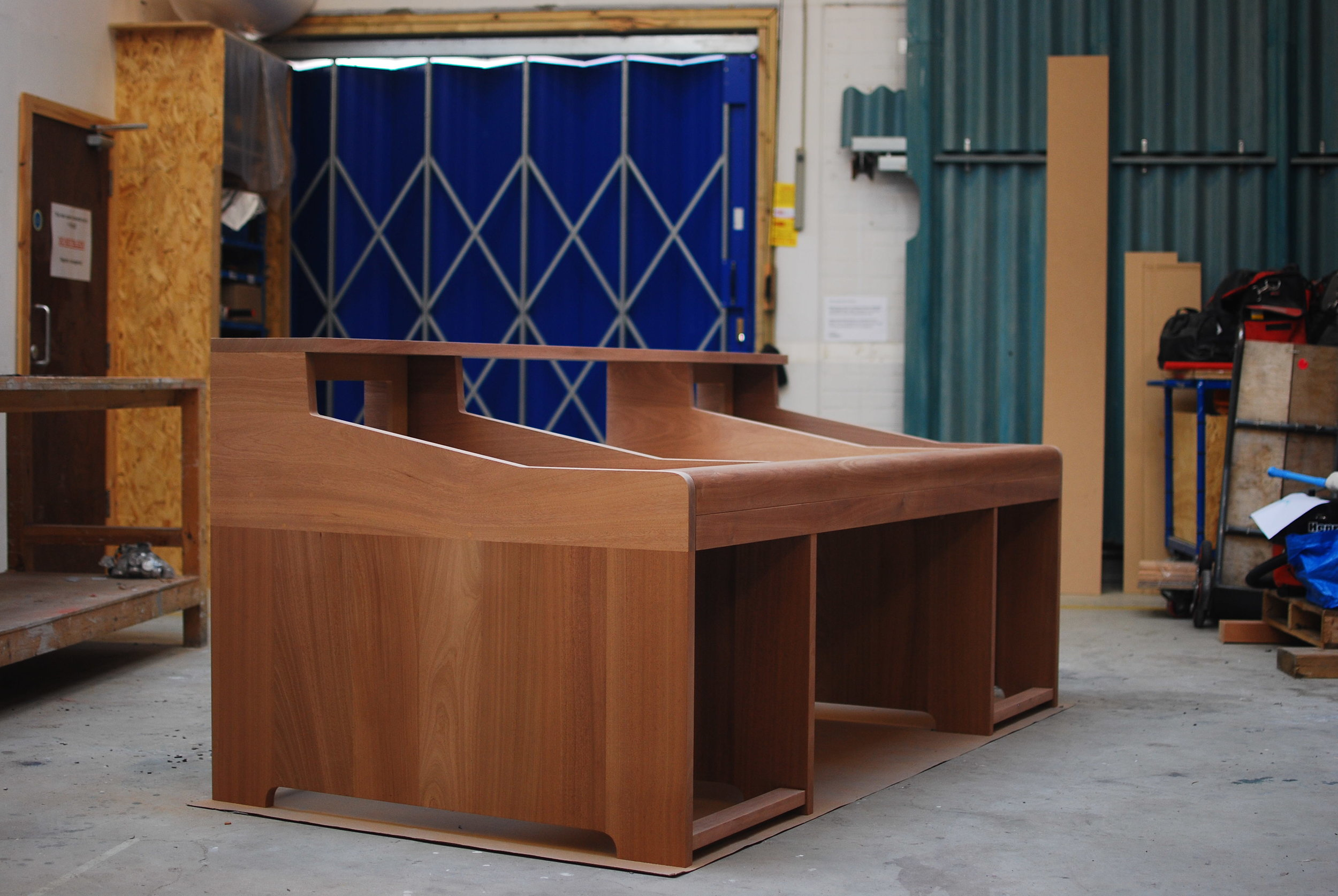 Take a look at the breath-taking pieces from our Bashmore sapele furniture London project in New Cross, 2017. Click to view our projects.